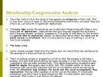 membership categorization analysis