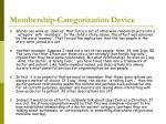 membership categorization device