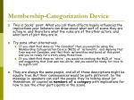 membership categorization device1
