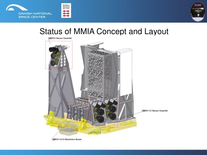 Status of mmia concept and layout