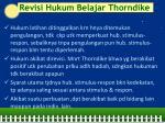 revisi hukum belajar thorndike