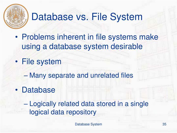 Database vs. File System