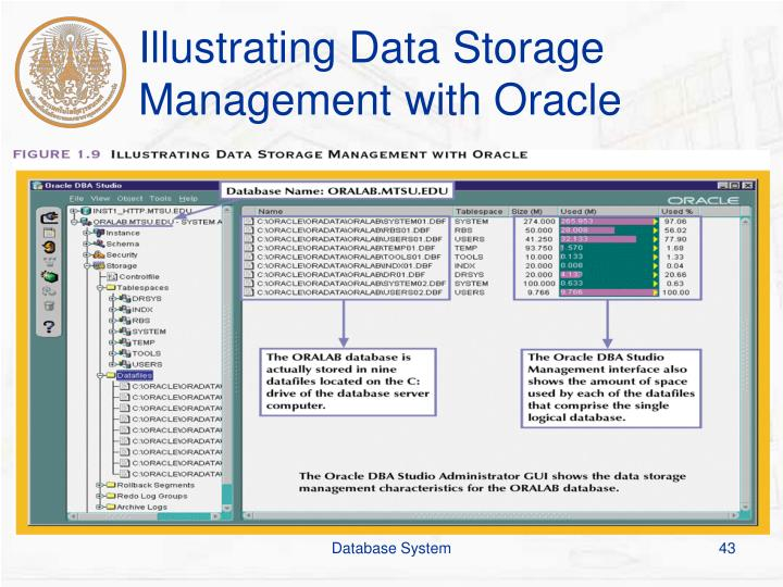 Illustrating Data Storage Management with Oracle