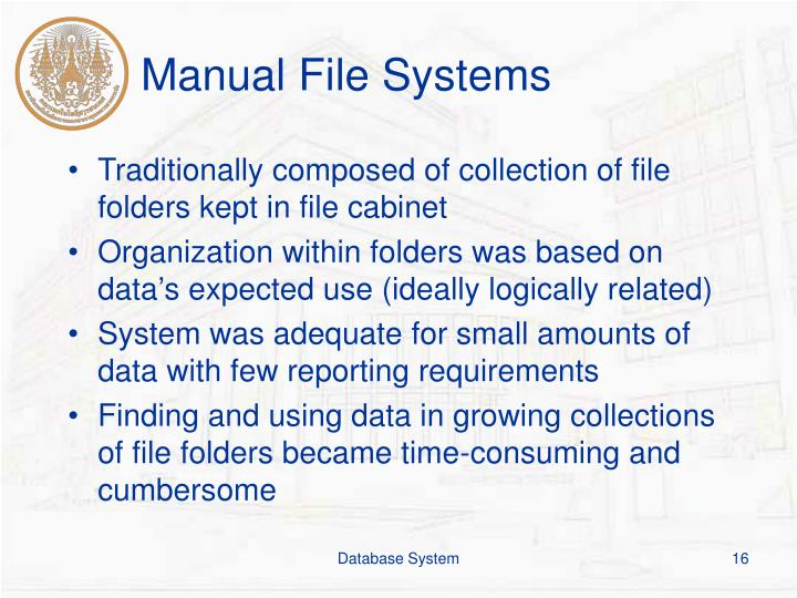 Manual File Systems