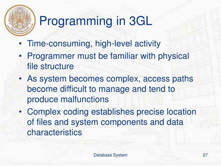 Programming in 3GL