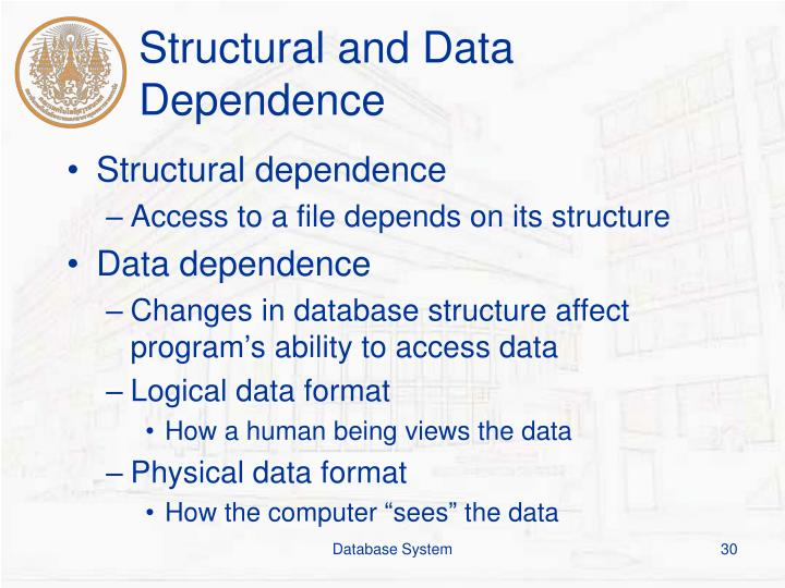 Structural and Data Dependence