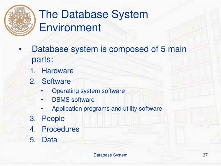 The Database System Environment