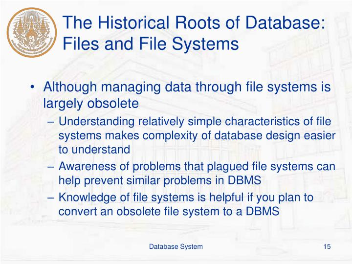 The Historical Roots of Database: