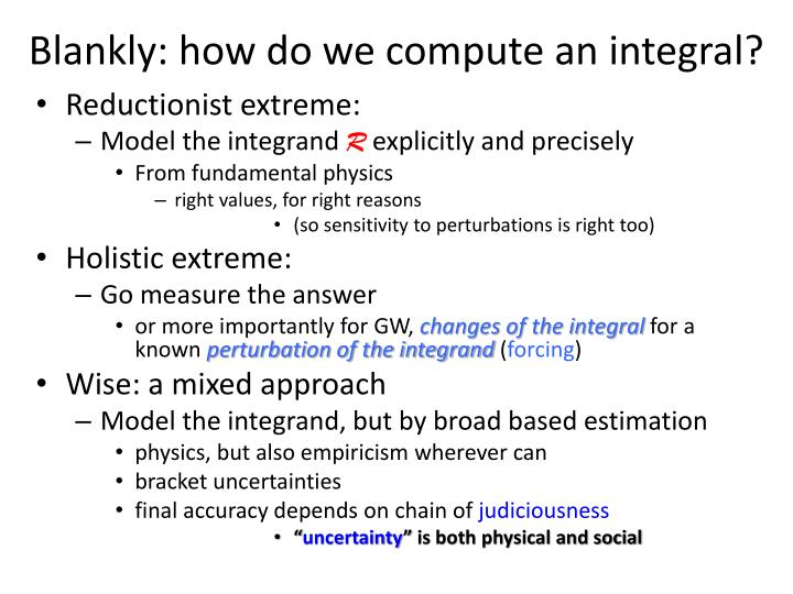 Blankly: how do we compute an integral?