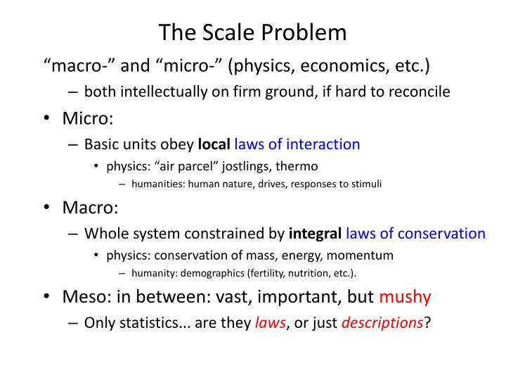 The Scale Problem