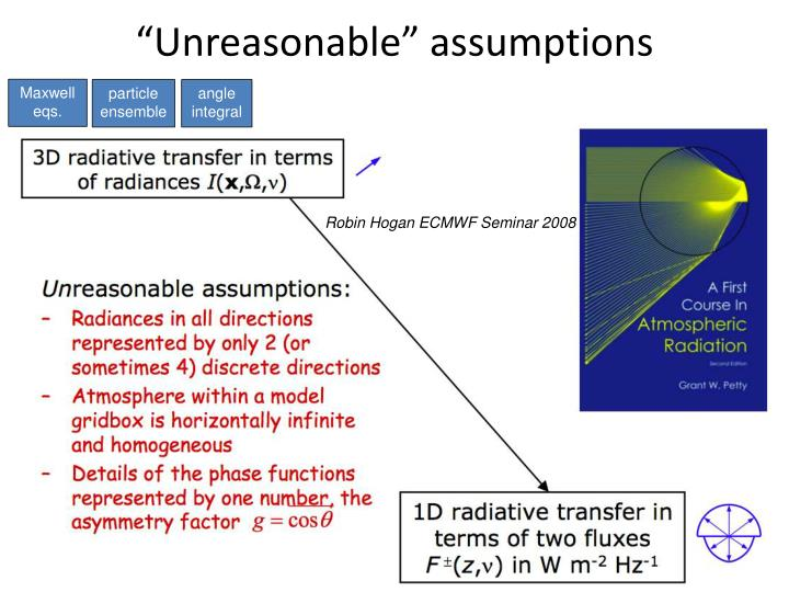 """Unreasonable"" assumptions"