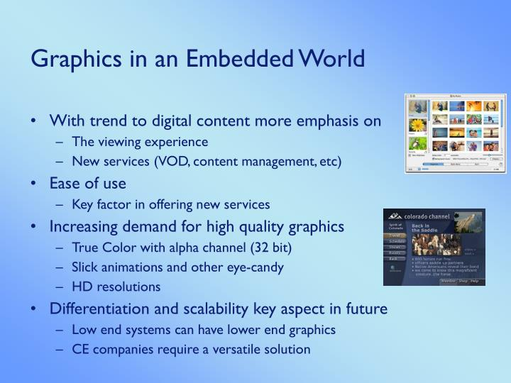 Graphics Subsystem in an Embedded World Integrating DirectFB into a UHAPI platform - PowerPoint PPT Presentation
