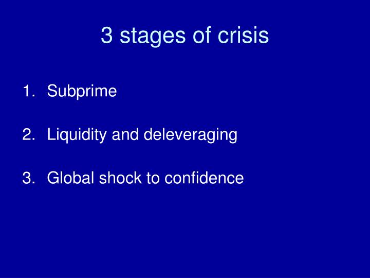 3 stages of crisis