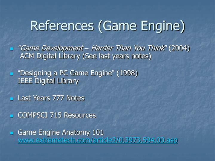 References (Game Engine)