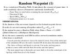 random waypoint 1