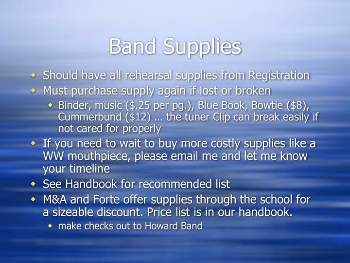 Band Supplies