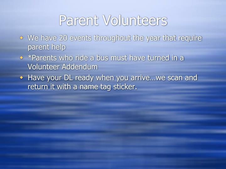 Parent Volunteers