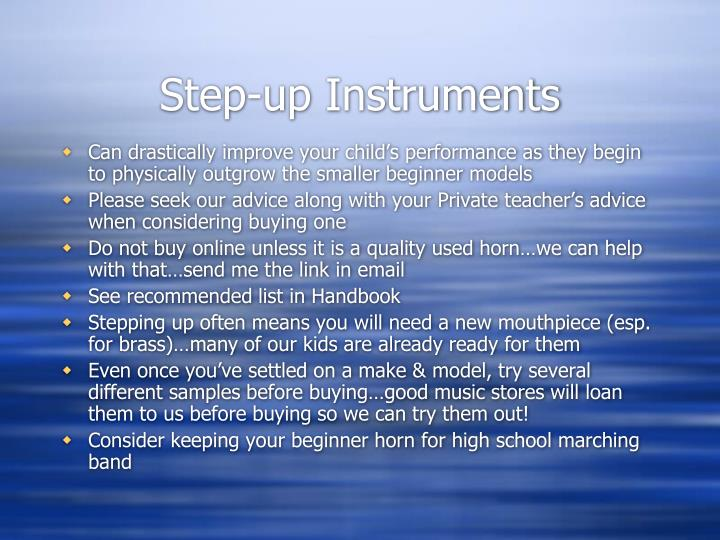 Step-up Instruments