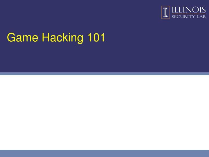 Game Hacking 101