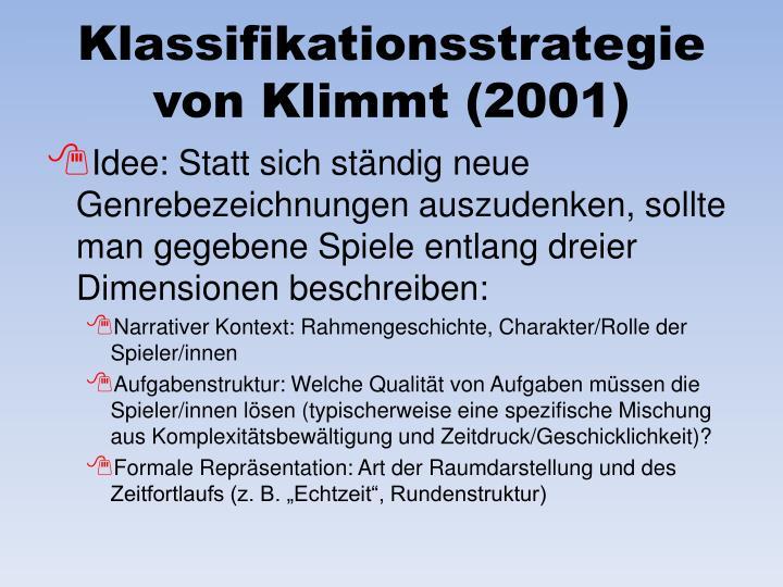 Klassifikationsstrategie von Klimmt (2001)