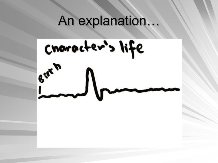 An explanation…