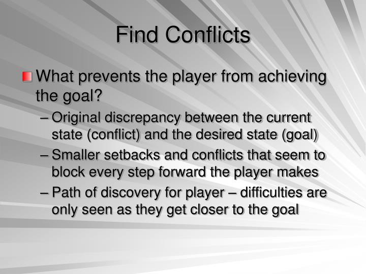 Find Conflicts