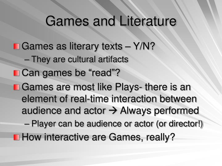 Games and Literature