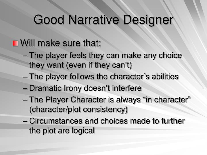 Good Narrative Designer