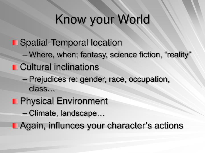 Know your World
