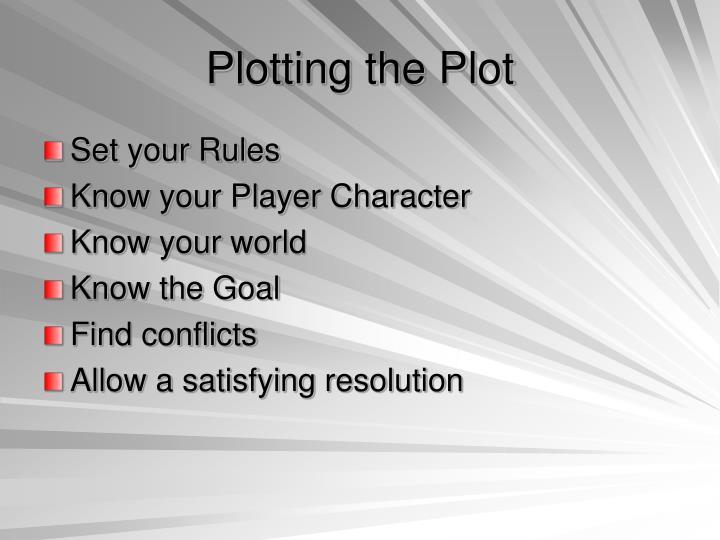 Plotting the Plot
