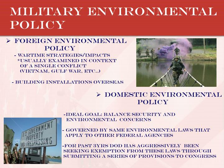 Military environmental policy