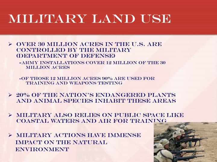 Military land use