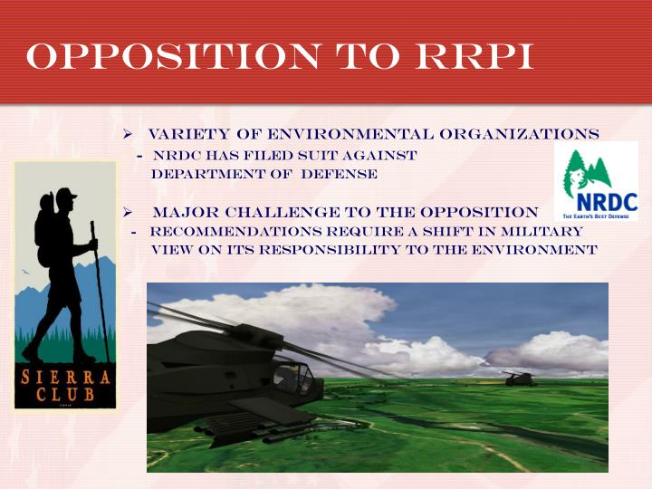 Opposition to rrpi