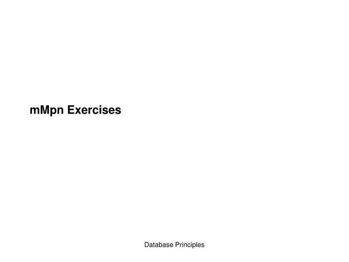mmpn exercises