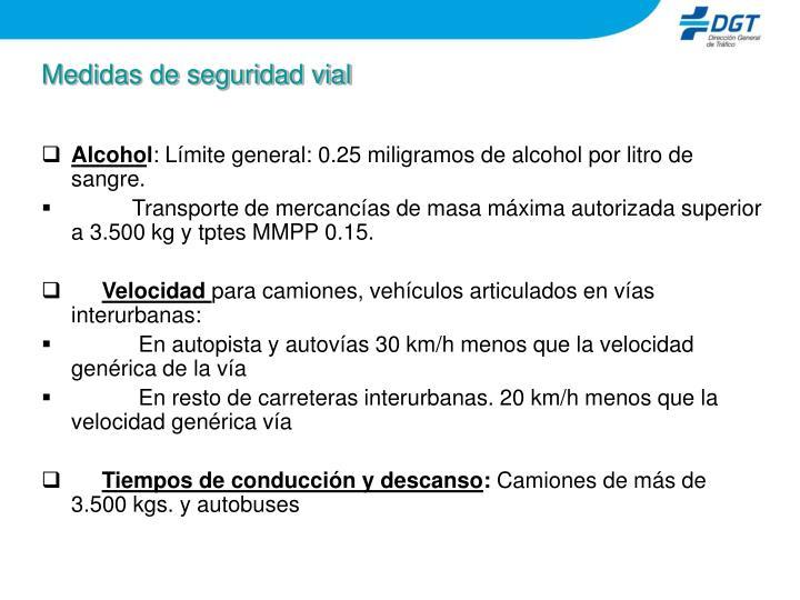 Medidas de seguridad vial