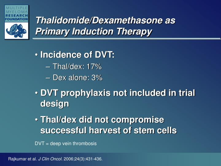 Thalidomide dexamethasone as primary induction therapy