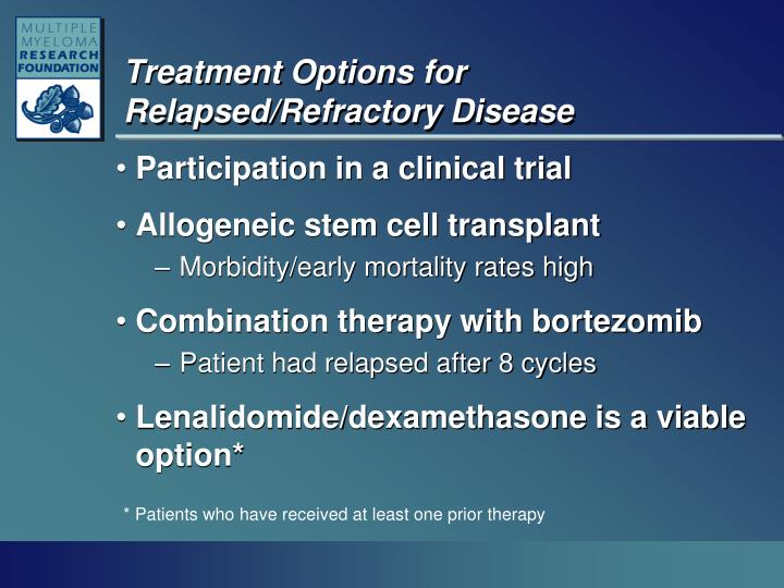 Treatment Options for Relapsed/Refractory Disease