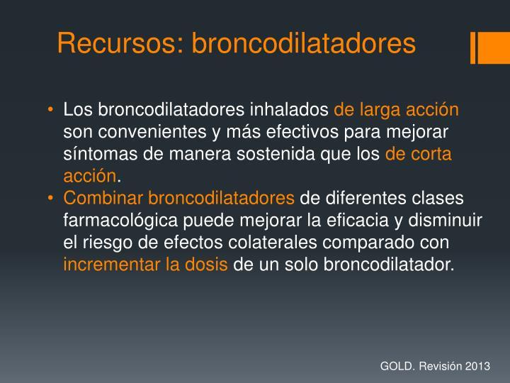 Recursos: broncodilatadores