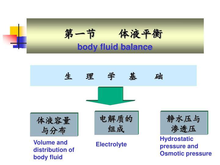第一节    体液平衡