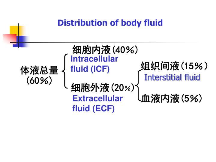 Distribution of body fluid