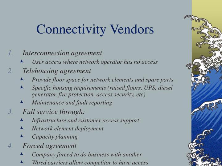 Connectivity Vendors