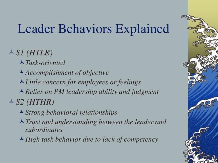 Leader Behaviors Explained