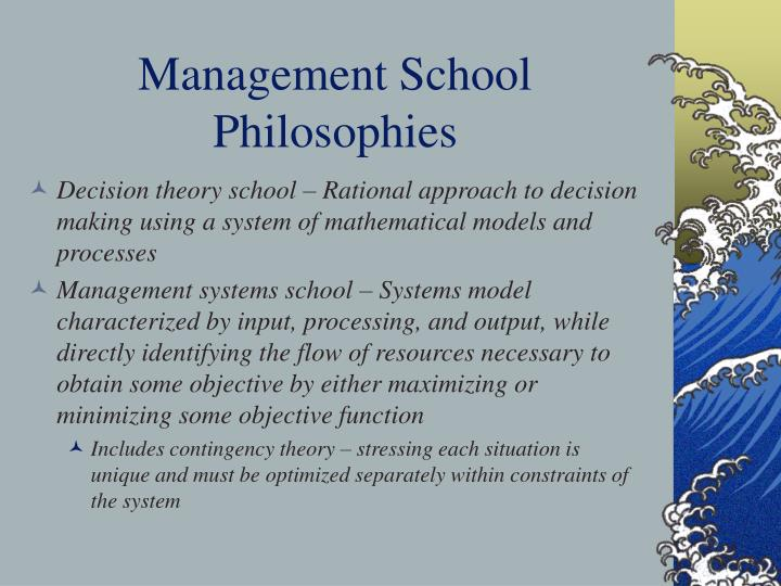 Management School Philosophies
