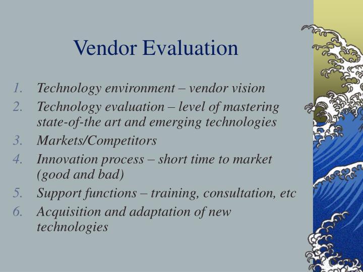 Vendor Evaluation