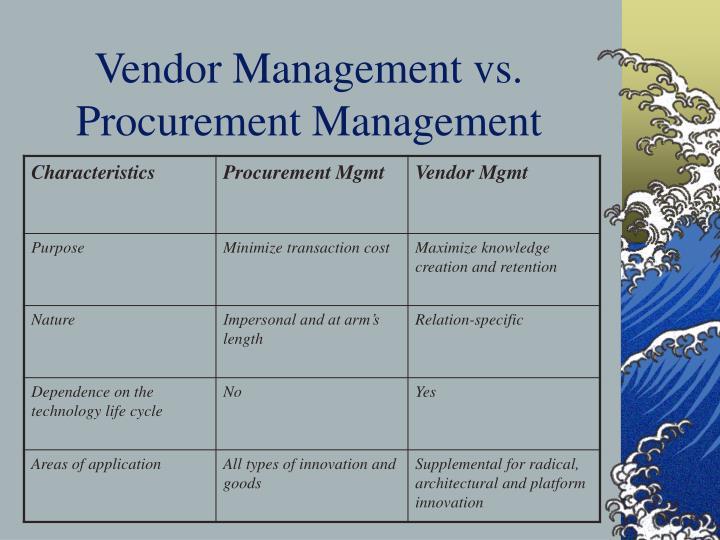 Vendor Management vs. Procurement Management