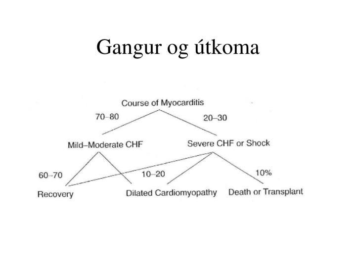 Gangur og útkoma