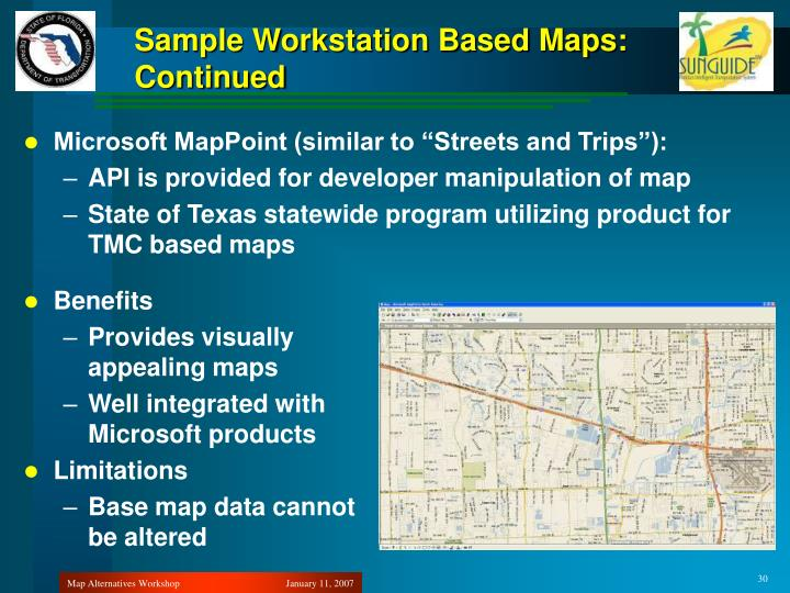 Sample Workstation Based Maps:
