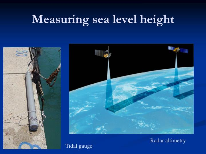 Measuring sea level height