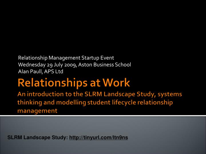 Relationship Management Startup Event