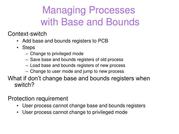 Managing Processes